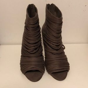 Amazing strappy BCBG booties size 40/ 9.5